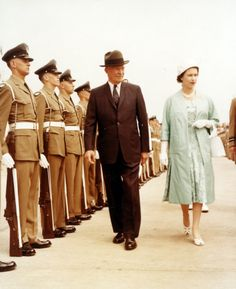 President Eisenhower with Queen Elizabeth II at the dedication and formal opening of the St. Lawrence Seaway, June 26, 1959.