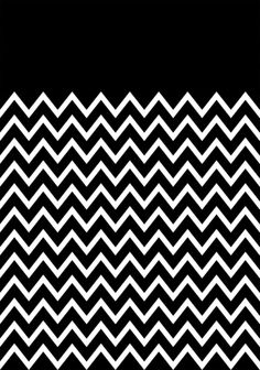 White Chevron On Black Stretched Canvas by Pencil Me In ™ | Society6