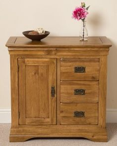 French Chateau Rustic Solid Oak Media Storage Unit This fabulous designer French Chateau Solid Oak Storage Cabinet is a wonderful solution for anyone looking to clear away any clutter. Media Storage Unit, Media Unit, Dresser Storage, Dresser Drawers, French Chateau, Solid Oak, Clutter, The Unit, Rustic