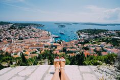 View from the top of Hvar Fortress, Croatia