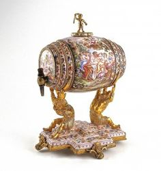 1880s Vienna enamel perfume figural dispenser. : Lot 1