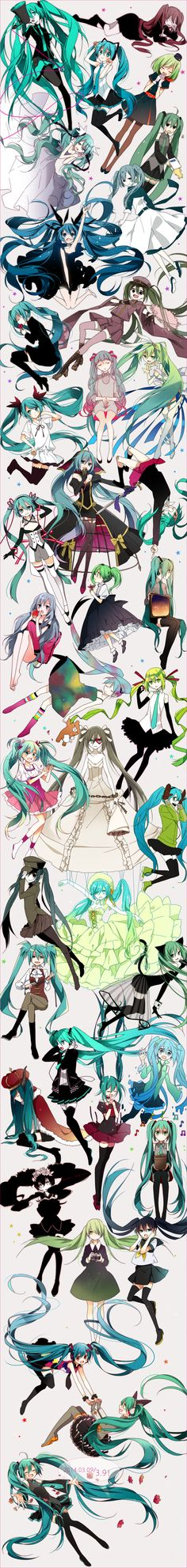Vocaloid Oh Meh Gerd THIS IS THE BEST THING EVA >~< I can name all these costumes >~< so Kawaii xD
