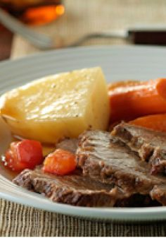 Braised Pot Roast and Vegetables – It's hard to believe that a simple braised pot roast recipe can be this delicious. Some vegetables, salt, pepper and a long simmer are all it takes.