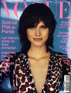Malgosia Bela en couverture du Vogue Paris Février 2000 http://www.vogue.fr/thevoguelist/malgosia-bela/19#