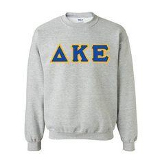 Delta Kappa Epsilon Fraternity Standards Crewneck Sweatshirt - Gildan 18000 - Twill