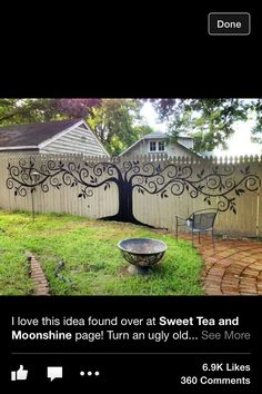 Cool fence idea