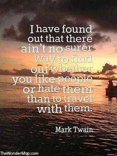 Mark Twain travellin inspiration positive words