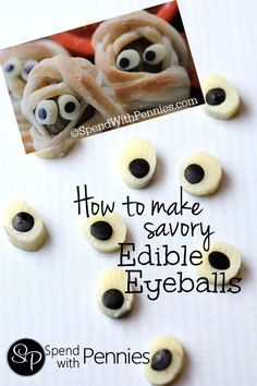 How to make savory edible eyeballs!  These are cute on ANY savory dish!