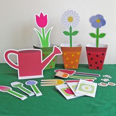 Printable Paper Gardening Set.