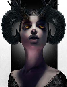 beautiful art Haunting Fantasy Female Portraits - Rob Shields Paints Beautiful Women with Nightmarish Features (GALLERY) Dark Fantasy, Fantasy Art, Arte Obscura, Angels And Demons, Horror Art, Vampires, Fantasy Characters, Disney Characters, Dark Art