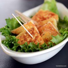 Pan roasted Crisp Tofu- Restaurant style