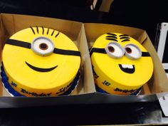 Minion birthday cakes...Sugarnomics Cake Studio Guam