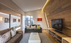 modern house interior tih zig zag room design