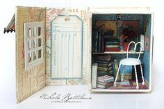 A Book Nook  A tiny place for fairies to read by PixieHillStudio, $135.00