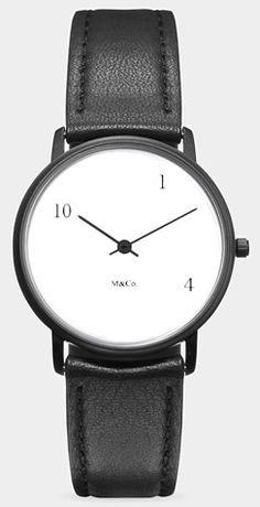 M&Co watch design, 10-One-4 watch, 1984-98. Designed by Tibor Kalman.
