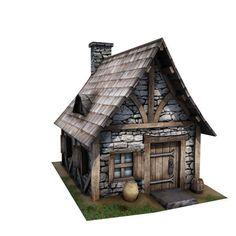 3D model Medieval Building 08 Cottage VR / AR / low-poly FBX TGA UNITYPACKAGE | CGTrader.com