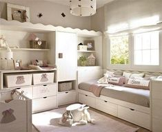 Vibrant and Lively Twin Kids Bedroom Designs Baby Bedroom, Baby Room Decor, Girls Bedroom, Cottage Shabby Chic, Shabby Chic Bedrooms, Deco Kids, Kids Bedroom Designs, Little Girl Rooms, Home And Deco
