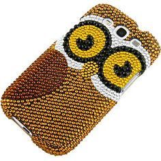 Rhinestones Protector Case for Samsung Galaxy S III, Gold #Owl Full Diamond $14.99 From #DayDeal