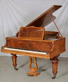 Antique Hagspeil Victorian Baby Grand Piano with B