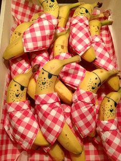 Kinderen traktatie fruit banaan