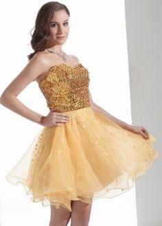 ea490ada5ed i love this cheap sparkly sequin gold prom dresses under 50  - corset tutu  Short