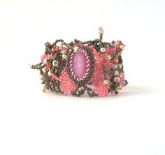 Beaded bracelet Seed bead bracelet Beadwork Beaded by ibics, $82.00