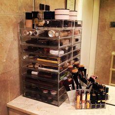 Dreamy makeup storage at @amelialiana 's place  Web Instagram User » Followgram