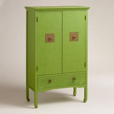 New Spring Nomad Collection featuring Cost Plus World Market's Green Davia Hall Cabinet >> #WorldMarket Home Decor Ideas, Furniture