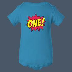 Comic Age One baby cute t-shirt by airwaves custom tees