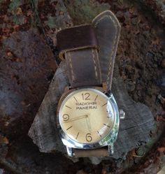 Vintage Panerai Radiomir 6154 on Bas and Lokes handmade leather watch strap