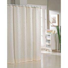 Alcott Hill Blarwood Jacquard Shower Curtain Color: Ivory