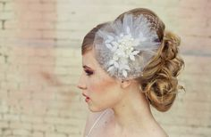 you know once it catches the light.....    romantic bridal veil wedding hair accessories for vintage brides