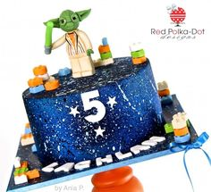 Star Wars cake with Yoda topper
