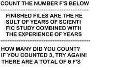 """""""Count The F's"""""""