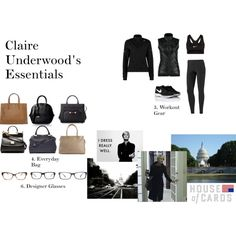 Claire Underwood's Essentials Part Two by oliviapope411 on Polyvore featuring adidas, Nike Golf, NIKE, Jason Wu, Dolce&Gabbana, Prada, Lanvin, Marc by Marc Jacobs, Burberry and Versace