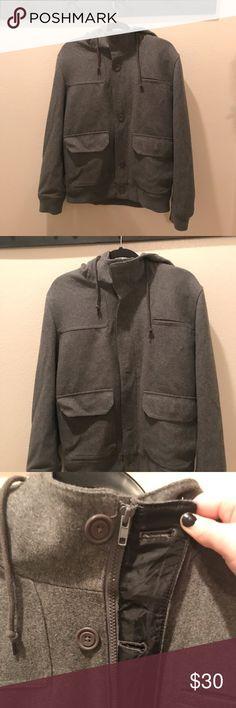 0ab9917c941fc Men s America Rag Wool Button Zip Up Coat Size L Size LARGE. Men s button