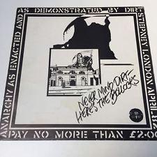 Dirt Never Mind Dirt - Here's The Bollocks 1982 Punk Rock Vinyl