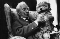 "Borges todo el año: Jorge Luis Borges-Osvaldo Ferrari: Bertrand Russell (""En diálogo"", II, 63) -Foto: Bertrand Russell por Marc Riboud"
