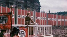 Adolf Hitler speaking in Lustgarten, Berlin. 1938 prior to the start of the war  He was able to convince his country to go to war.