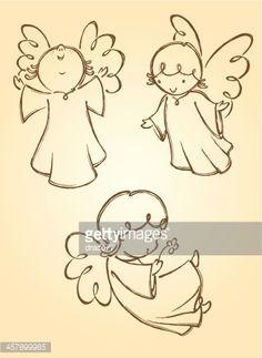 Vector Art : Cute Angels