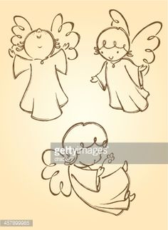 Vector Art : Cute Angels