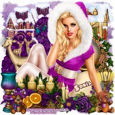 "MI RINCÓN GÓTICO: CT FOR GOF DESIGNS, ""Purple Christmas"""