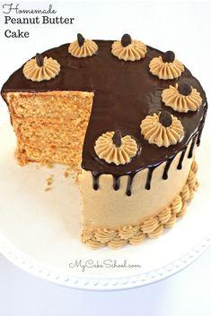 Peanut Butter Cake | My Cake School