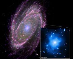 Goodmorning! Here you see M81 feeding a Black Hole.