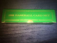 1988 Topps Baseball Card Set - Collectors Edition - Tiffany - NOT Factory Sealed