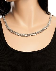 BRAIDED FLAT CHAINED NECKLACE l $2.00