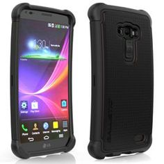 LG G Flex LS995 Compatible Ballistic Shell Gel (SG) Case - Black and Black - $31.49