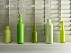 Love these painted bottles and so easy to do.