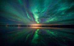Terre/Nature - Aurore Boréale  - Nuage - Hd - 4k - Ultra HD - Night - Lumière - Aurora - Borealis Fond d'écran