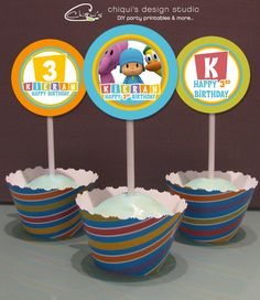 A personal favorite from my Etsy shop https://www.etsy.com/listing/57086496/pocoyo-birthday-tags-2-or-25-inch